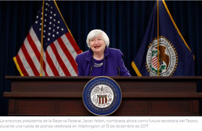 Reed Statement on Yellen Nomination as Treasury Secretary