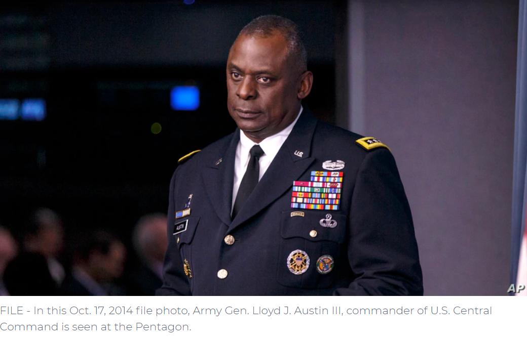 Biden Nominee for Pentagon Chief Is Veteran Commander of Iraq, Afghanistan Wars