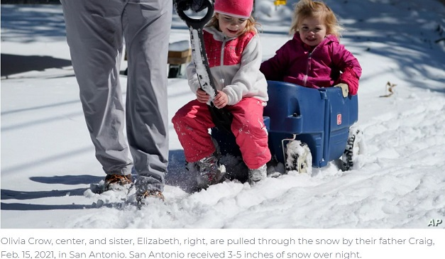 Winter Weather, Record Cold Grips Much of Central-Southern US