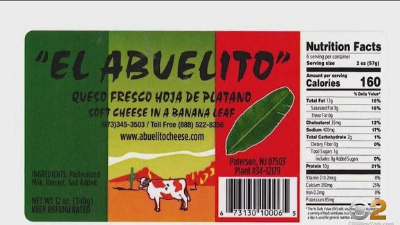 El Abuelito Recalls Queso Fresco Products Because of Possible Health Risk