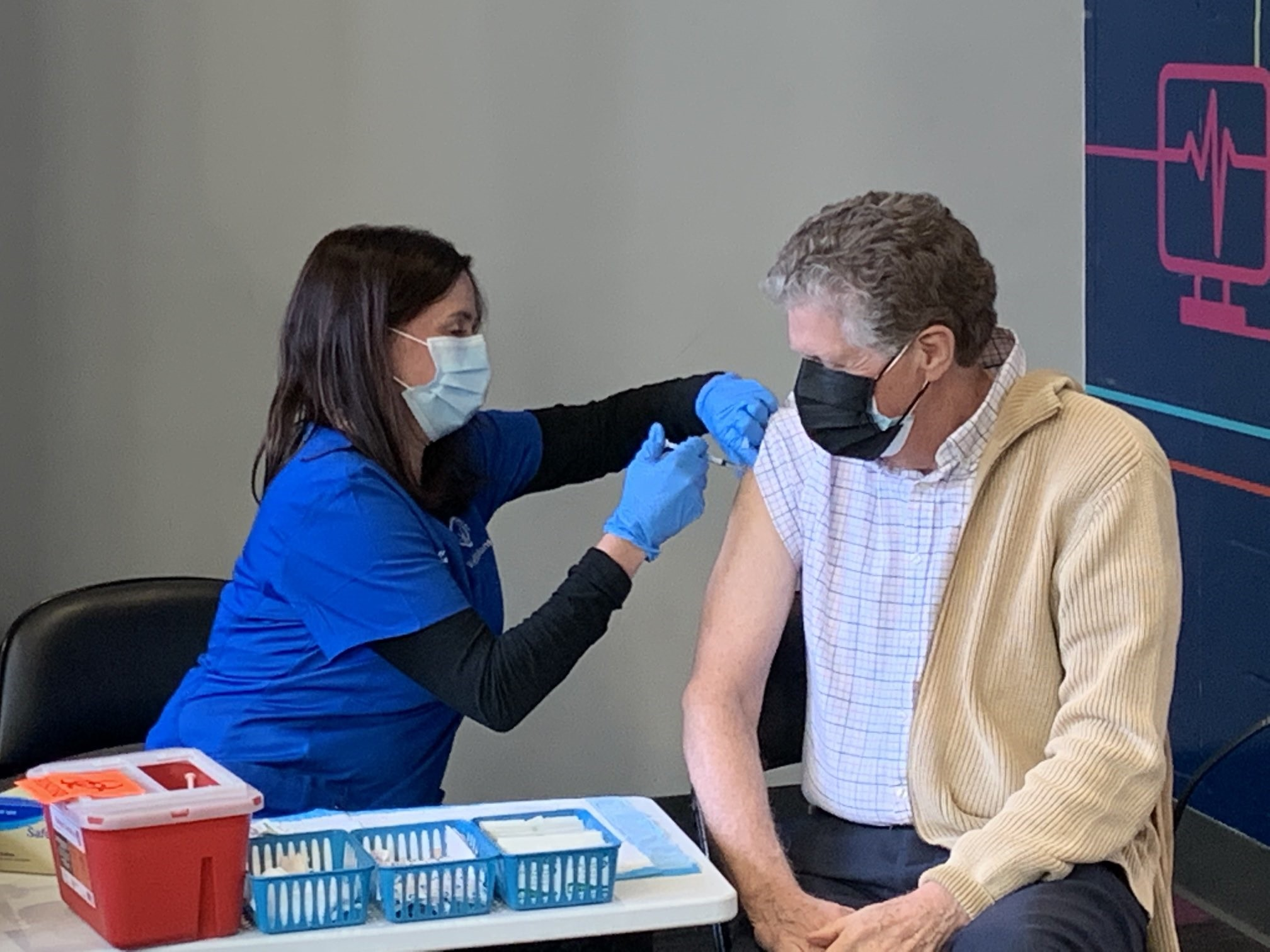 Incoming Governor McKee Receives First Dose of COVID-19 Vaccine