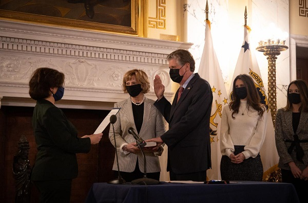 Governor Dan McKee Sworn in as 76th Governor of Rhode Island
