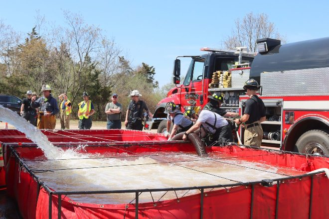Members of Union Fire District Station 9 Complete Multi-Part Water Supply Tanker Training Series