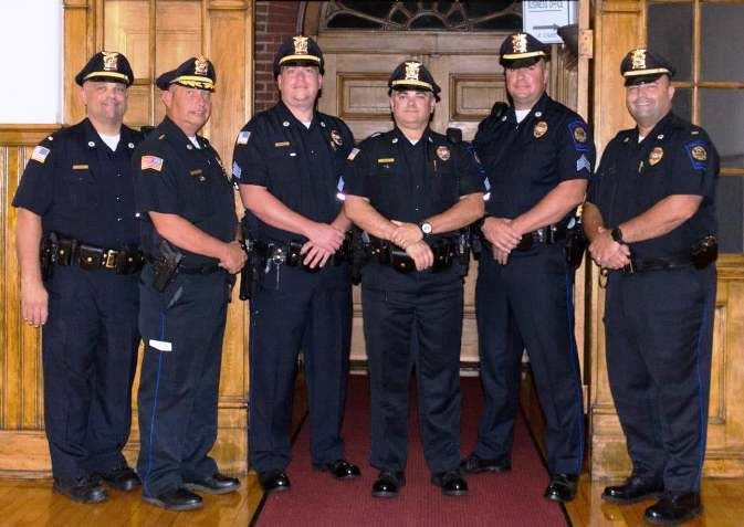 Swansea Police Department Promotes Three Members During Pinning Ceremony